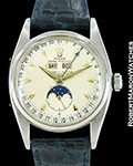 ROLEX 6062 TRIPLE DATE MOONPHASE STEEL AUTOMATIC 1953