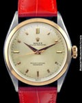 ROLEX 6085 OYSTER PERPETUAL STEEL 18K ROSE
