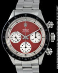 ROLEX VINTAGE 6263 OYSTER COSMOGRAPH DAYTONA PAUL NEWMAN STAINLESS STEEL RED DIAL