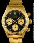 ROLEX VINTAGE 6265 DAYTONA COSMOGRAPH 18K YELLOW GOLD
