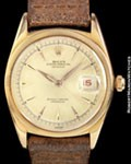 ROLEX 6305 DATEJUST OVETTONE 18K ROSE