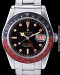 ROLEX 6542 GMT MASTER GILT STEEL