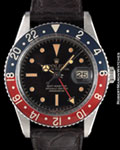 ROLEX 6542 GMT MASTER GILT STEEL