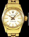 ROLEX 6719 OYSTER PERPETUAL TIFFANY & CO 14K