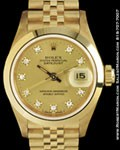 ROLEX 69168 DATEJUST DIAMONDS 18K