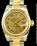 ROLEX LADIES DATEJUST STEEL/18K YELLOW GOLD 179163