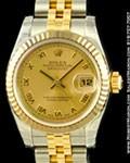 ROLEX LADIES DATEJUST STEEL/18K YELLOW GOLD 179173