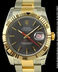 ROLEX DATEJUST TURNOGRAPH TWO-TONE STEEL/18K YELLOW GOLD 116263