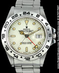 ROLEX EXPLORER II 16550 STAINLESS STEEL CREAM DIAL