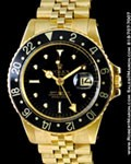 ROLEX VINTAGE GMT MASTER 1675 18K YELLOW GOLD