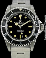 ROLEX VINTAGE SUBMARINER 5512 GILT METERS FIRST DIAL AUTOMATIC 1962