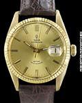 TUDOR ROSE OYSTERDATE 7944 18K GOLD AUTOMATIC DATE RARE CA. 1960