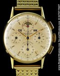 UNIVERSAL GENEVE TRI-COMPAX CHRONOGRAPH 14K