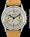VACHERON CONSTANTIN VINTAGE 1938 STEEL CHRONOGRAPH CERTIFICATE OF AUTHENTICITY