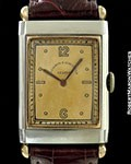 VACHERON CONSTANTIN VINTAGE TANK WATCH 18K ROSE GOLD & STEEL TWO TONE DIAL