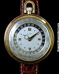 AGASSIZ WORLDTIMER 14K GOLD 45mm