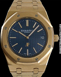 AUDEMARS PIGUET REF 15202 ROYAL OAK JUMBO 18K RG BLUE DIAL MINT WITH BOX/PAPERS