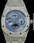 AUDEMARS PIGUET ROYAL OAK 25686PT PLATINUM AUTOMATIC PERPETUAL CALENDAR MOTHER OF PEARL