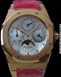 AUDEMARS PIGUET ROYAL OAK 25686 AUTOMATIC LIMITED EDITION 18K ROSE GOLD PERPETUAL CALENDAR NEW