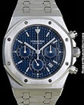 AUDEMARS PIGUET ROYAL OAK CHRONOGRAPH 25860ST BLUE DIAL STEEL BOX & PAPERS