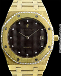 AUDEMARS PIGUET 5402J/13 ROYAL OAK A 18K DIAMOND BEZEL BROWN DIAL