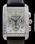 AUDEMARS PIGUET EDWARD PIGUET 18K WHITE GOLD DIAMOND CHRONOGRAPH