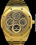 AUDEMARS PIGUET ROYAL OAK SKELETON QUANTIEME PERPETUAL CALENDAR UNPOLISHED 18K 25829BA