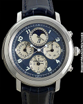 AUDEMARS PIGUET JULES AUDEMARS AUTOMATIC GRAND COMPLICATION PLATINUM MINUTE REPEATER PERPETUAL CALENDAR PIECE UNIQUE