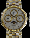 AUDEMARS PIGUET PERPETUAL EARLY GENTA PROTOTYPE WITH BASKET WEAVE WHITE/YELLOW GOLD BRACELET