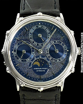 AP VINTAGE FULL PERPETUAL PLATINUM TRANSITIONAL MARINE CASE BLUE GIIULLOCHE DIAL