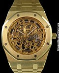 AUDEMARS PIGUET ROYAL OAK SKELETON 18K DIAMOND HANDS