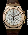 AUDEMARS PIGUET 18K ROSE AUTOMATIC CHRONOGRAPH NEW 26320OR