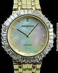 AUDEMARS PIGUET PIECE UNIQUE 18K TOP WESSELTON DIAMOND BEZEL AUTOMATIC MOP DIAL