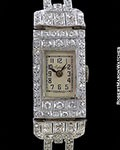 ASPREY LADY'S VINTAGE FANCY DIAMOND WATCH