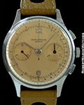 BAUME & MERCIER VINTAGE SALMON DIAL COLUMN WHEEL CHRONOGRAPH STEEL