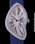 CARTIER CRASH WATCH 18K WHITE GOLD DIAMOND CASE NEW BOX PAPERS