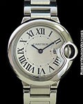 LADIES STAINLESS STEEL BALLON BLEU SILVER DIAL WITH ROMAN NUMERALS