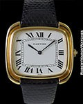 CARTIER PARIS VINTAGE CEINTURE ELLIPSE UNPOLISHED 18K OVERSIZED