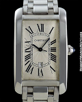 CARTIER REF 1741 TANK AMERICAINE 18K WHITE GOLD