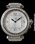 CARTIER PASHA XL 18K WHITE GOLD DIAMOND BEZEL PAVE DIAMOND BRACELET REF 2765 AUTOMATIC