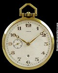 CARTIER POCKET WATCH 18K KEYLESS 8 DAY POWER RESERVE