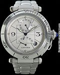 CARTIER PASHA POWER RESERVE DATE AUTOMATIC STEEL