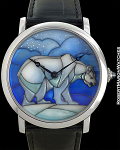 CARTIER ROTONDE DE CARTIER 18K WHITE GOLD POLAR BEAR MOTIF LIMITED TO 40 PIECES MADE