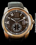 CARTIER CALIBRE DE CARTIER DIVER AUTOMATIC 18K ROSE GOLD W7100007
