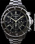 CHANEL J12 CHRONOGRAPH AUTOMATIC BLACK CERAMIC