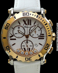 CHOPARD HAPPY SPORT CHRONOGRAPH 18K ROSE GOLD/STAINLESS STEEL