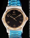 EBEL 1911 GOLD/STEEL QUARTZ SAPPHIRE CRYSTAL