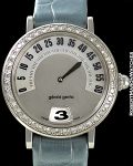 GERALD GENTA REF G3616 RETROGRADE DIAMOND BEZEL 18K WHITE GOLD
