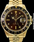 ROLEX GMT 16758 COLOR CHANGE DIAL 18K