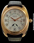 HERMES DRESSAGE 18K ROSE GOLD RETROGRADE CALENDAR MOONPHASE AUTOMATIC